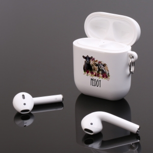 Personalized Farmhouse Cow Trio Apple AirPods Case