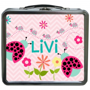 Cute Ladybug Girls Personalized Girls Lunchbox