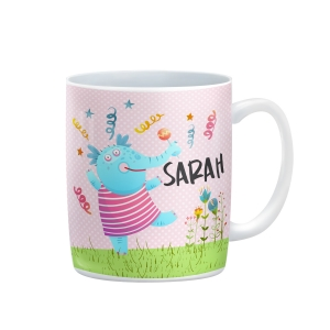 Dancing Elephant Personalized Girls Mug