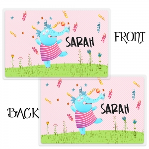 Dancing Elephant Personalized Girls Placemat