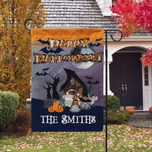 Happy Halloween Gnome Personalized Halloween Garden Flag