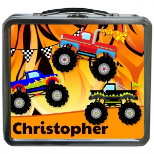 Monster Truck Personalized Boys Lunchbox