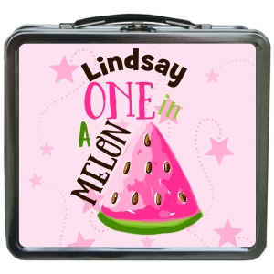 One In A Melon Personalized Girls Lunchbox