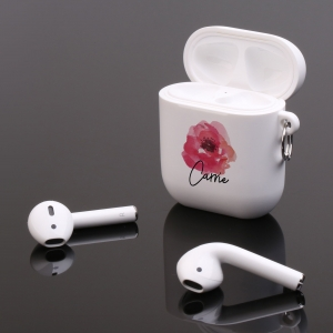 Personalized Watercolor Rose Floral Apple AirPods Case