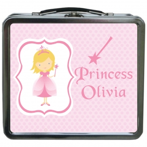 Princess Girls Personalized Girls Lunchbox