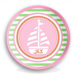 Sailor Nautical Girls Personalized Plate