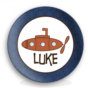 Submarine Boys Personalized Plate