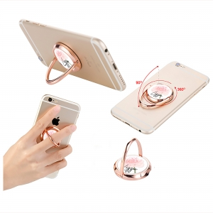 Sweet Peony Personalized Phone Ring Stand