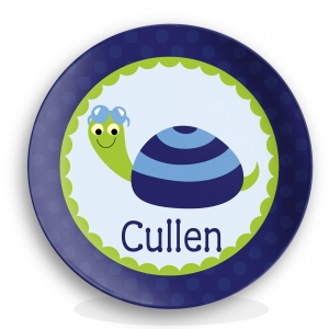 Turtle Dude Boys Personalized Plate