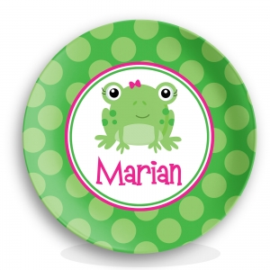 Miss Frog Girl Personalized Plate