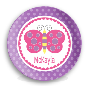 Butterfly Girls Personalized Plate