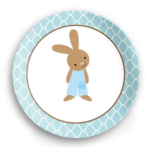 Classic Bunny Boys Easter Plate