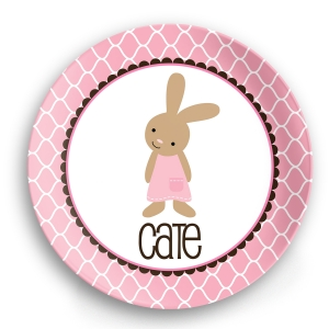 Classic Bunny Easter Plate