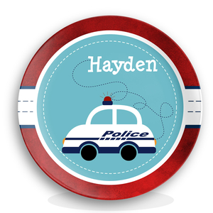 Police Car Boys Personalized Plate