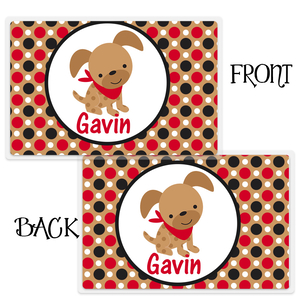 Puppy Boys Personalized Placemat