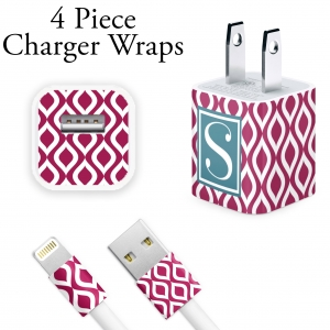 Teardrop Print Personalized iPhone Charger Wraps