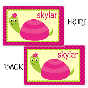 Girls Personalized Turtle Placemat