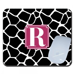 Giraffe Print Personalized Mouse Pad