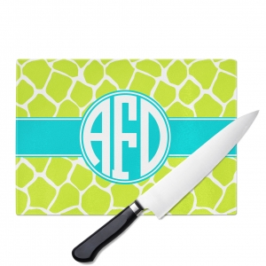 Giraffe Monogrammed Cutting Board