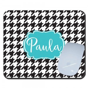 Houndstooth Monogrammed Mousepad