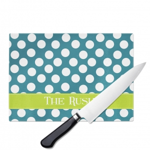 Polka Dot Personalized Cutting Board