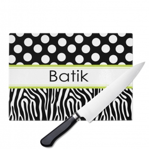 Zebra Dots Personalized Cutting Board