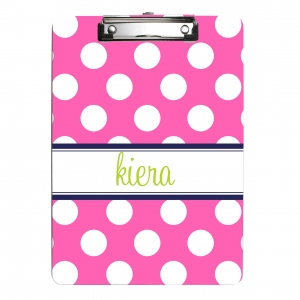 Polka Dot Personalized Clipboard