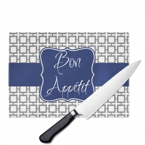 Squares Monogrammed Cutting Board