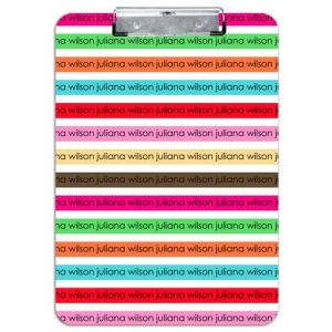 Stripes Personalized Clipboard