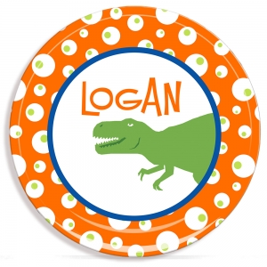 Dinosaur Boys Personalized Plate