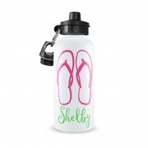 Flip Flops Monogrammed Water Bottle