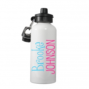 Preppy Name Monogrammed Water Bottle