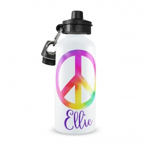 Peace Monogrammed Water Bottle