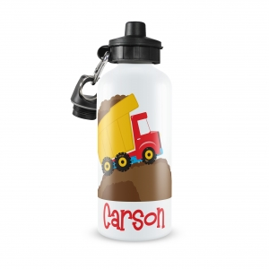 Dump Truck Personalized Water Bottle