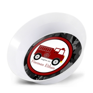 Firetruck Personalized Bowl