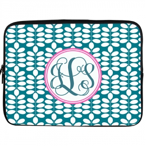 Leaf Monogrammed iPad or Laptop Sleeve