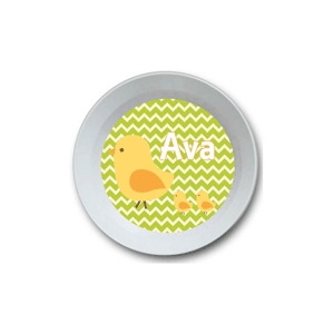 Little Chick Girls Personalized Easter Bowlnalized Easter Bowl