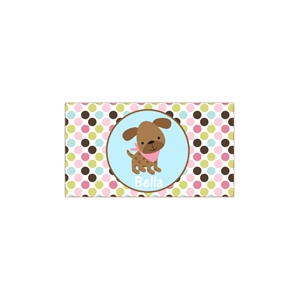 Puppy Girl Personalized Place Mat