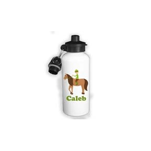 Horseback Rider Boy Personalized Water Bottle