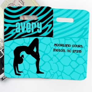 Gymnastics Monogrammed Bag Tag