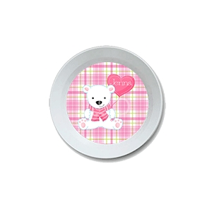 Valentine Bear Personalized Bowl