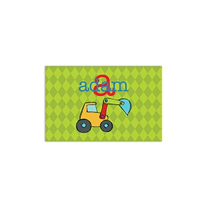 Backhoe Boys Personalized Placemat