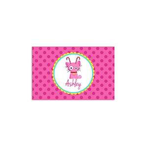 Candy Cane Kitty Personalized Christmas PlacematValentine Puppy Personalized Placemat
