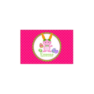Carrot Ears Personalized Easter Placemat