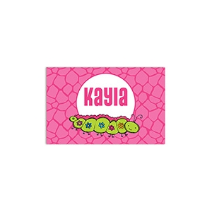 Caterpillar Girls Personalized Placemat