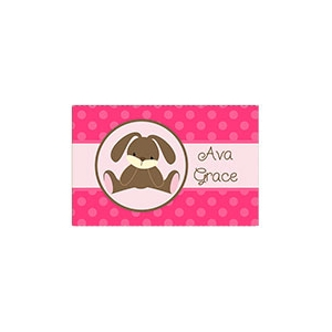 Floppy Eared Bunny Girl Personalized Placemat
