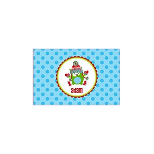 Ice Skating Owl Personalized Christmas Placemat