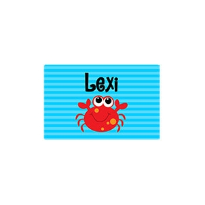 Miss Crab Girls Personalized Placemat