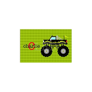 Monster Truck Boys Personalized Placemat