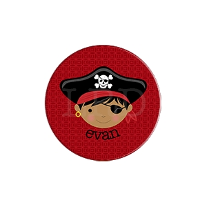 Pirate Face Personalized Plate